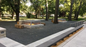 650,000 BTU Fire Pit at College of Business at K-State