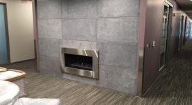 Gas Fireplace in College of Business at K-State