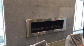 Gas Fireplace in College of Business Building at K-State