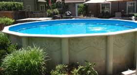 Above Ground Pool with Ladder