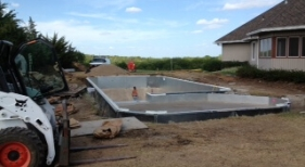 Pool Building Process